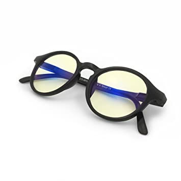 3884ae22b60 J+S Vision Blue Light Shield Computer Reading Gaming Glasses - 0.0  Magnification -