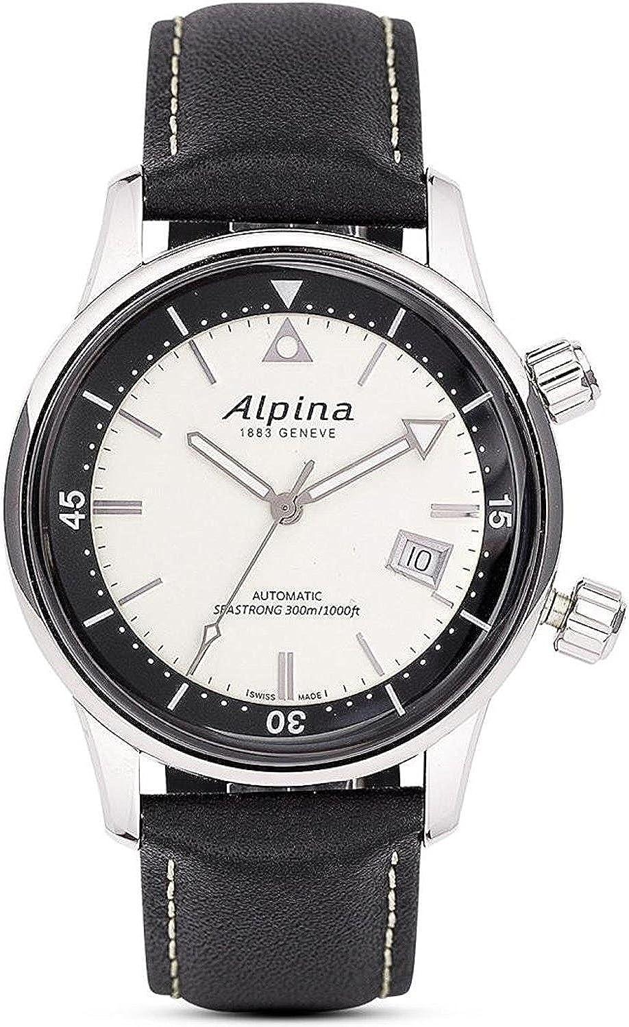 Alpina Reloj Analógico para Hombre de Automático con Correa en Caucho AL-525S4H6