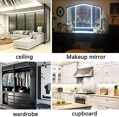 Haus DIY Flexibel 12V LED Leiste leuchtet 3528 SMD Kaltes Weiß 300 LEDs 5M//Rolle