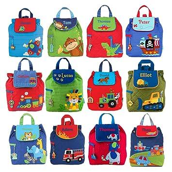 Stephen Joseph - Mochilas personalizadas para niños, diseño de niño azul Transport: Amazon.es: Hogar