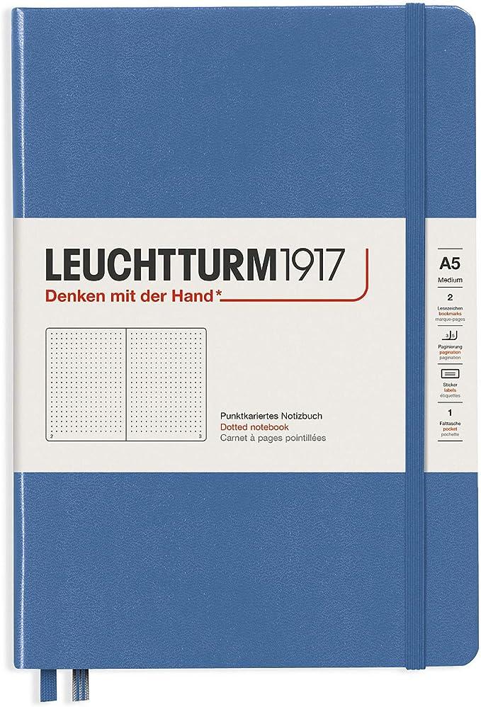Leuchtturm 1917 Notizbuch A5 Hardcover muted color liniert kariert blanko dotted