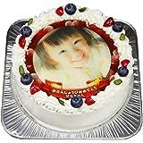 写真ケーキ 全面プリント彩タイプ 標準の白い生クリーム (5号(15cm)3~5人前)