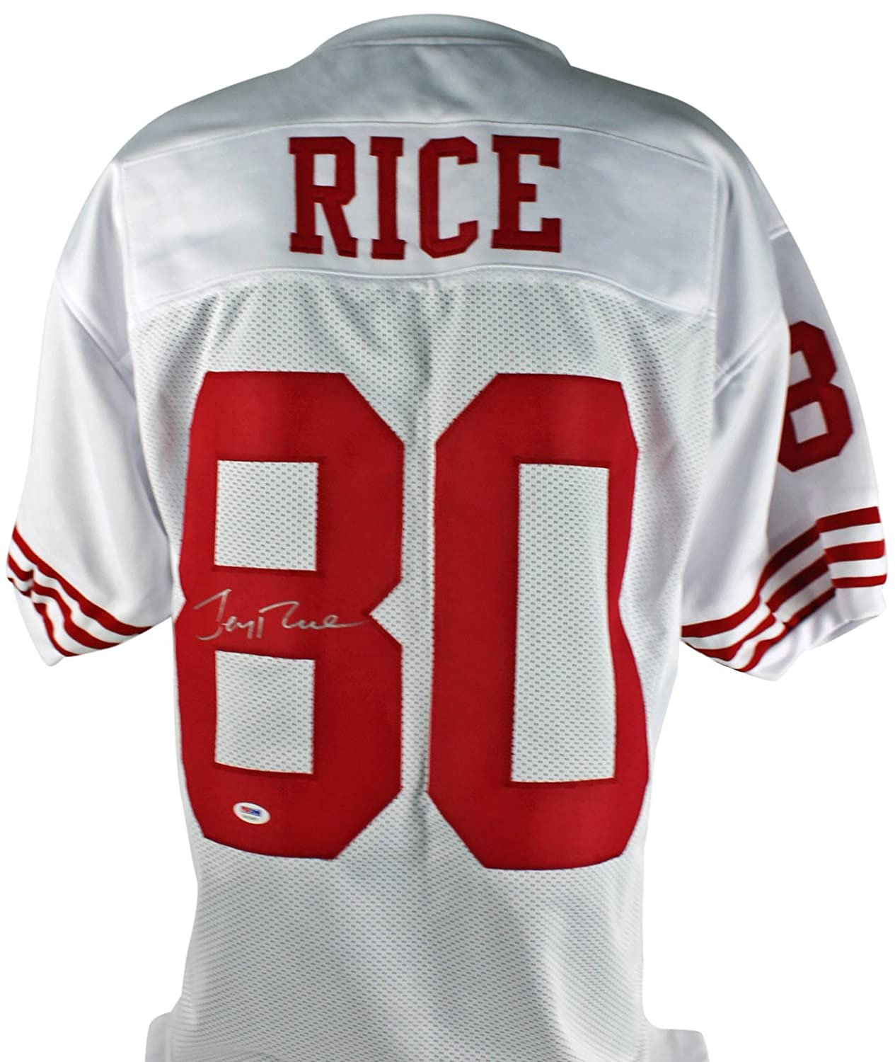 8651d3f7326 49ers Jerry Rice Authentic Signed White Jersey PSA/DNA ITP Jerseys