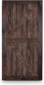 Belleze Puerta corredera de acero de madera de granero de estilo europeo moderno americano antiguo de 6 pies, solo hardware: Amazon.es: Bricolaje y herramientas