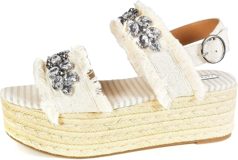 Zara Women Platform sandals with beaded