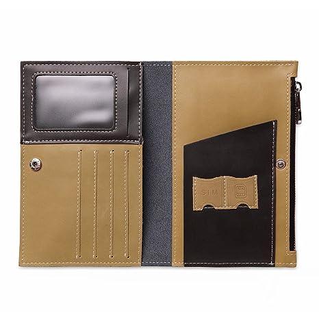 HGDGears Porte-passeport Housse - Portefeuille anti-RFID en cuir, Voyage  Protecteur Portefeuille f75e35b28be