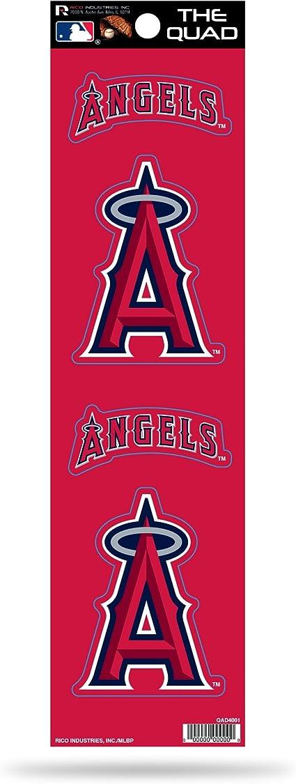 Rico Industries Mlb Los Angeles Angels Quad Sticker Sport Freizeit