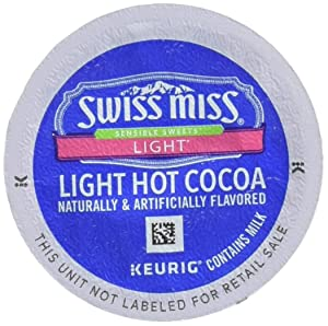 Swiss Miss Sensible Sweets Light Hot Cocoa Single Serve Keurig K-Cup Pods, 12 Count