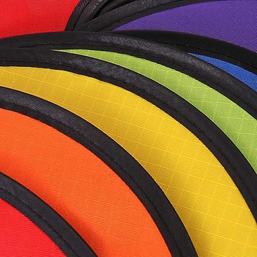 DOITOOL 2 Piezas Arco Iris Viento Hilandero Colorido Colgante Viento Tornado Carpa Tira Espiral Molino de Viento para Jard/ín C/ésped Decoraci/ón de Camping Al Aire Libre