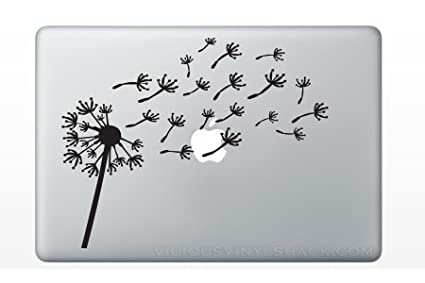 159812779d978 Blowing Dandelion Wish Quote (BLACK) Vinyl Decal Stickers for MacBook  Laptop Car Love Forever