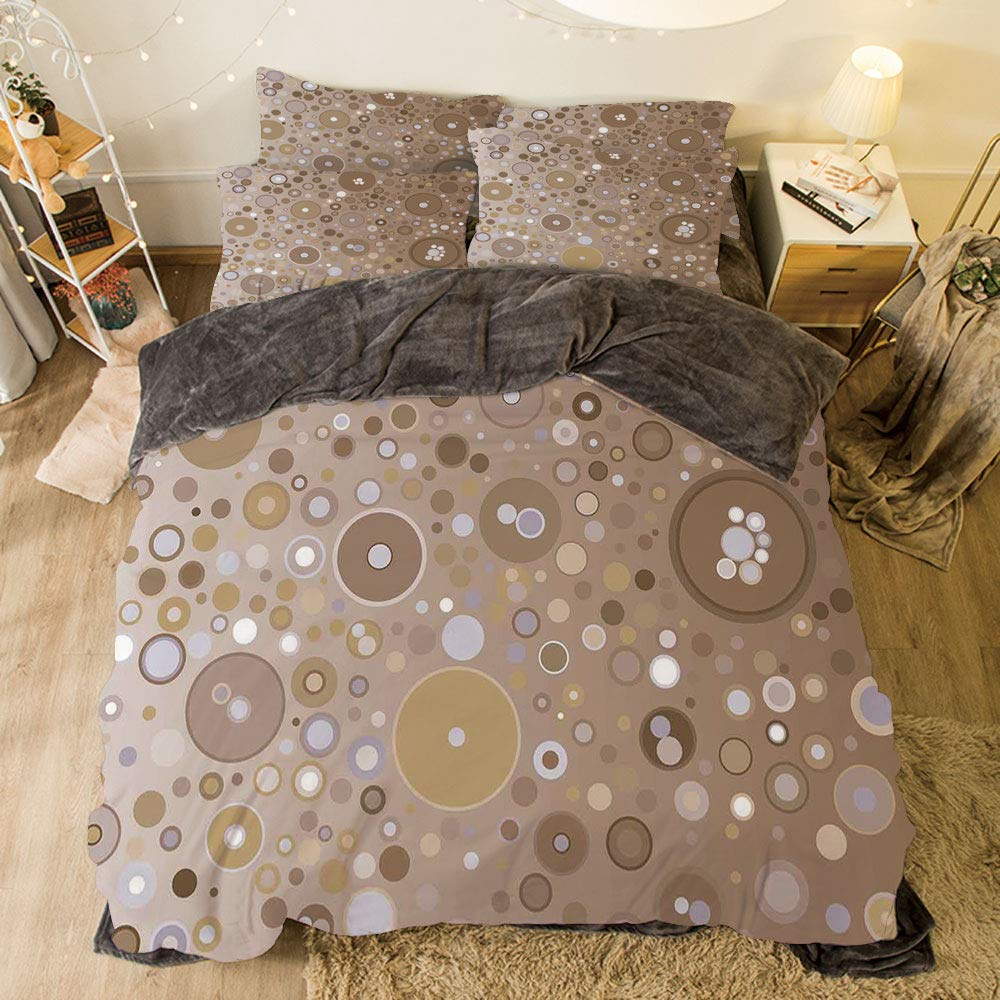 iPrint フランネル布団カバーセット 4ピース ベッドリネン 冬休みパターン タン色 曲線波 コンセプト芸術的ディスプレイ クリーミー効果 ソフトカラー 微妙な画像 クリームタン bed width 6.6ft(200cm) BotFLR_Hei_18303_2mCalif king B07LCQ5R7M カラー3 bed width 6.6ft(200cm)