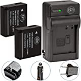 BM Premium 2-Pack of DMW-BLG10 Batteries and Battery Charger for Panasonic Lumix DC-ZS200, DC-ZS70, DMC-GX80, DMC-GX85…
