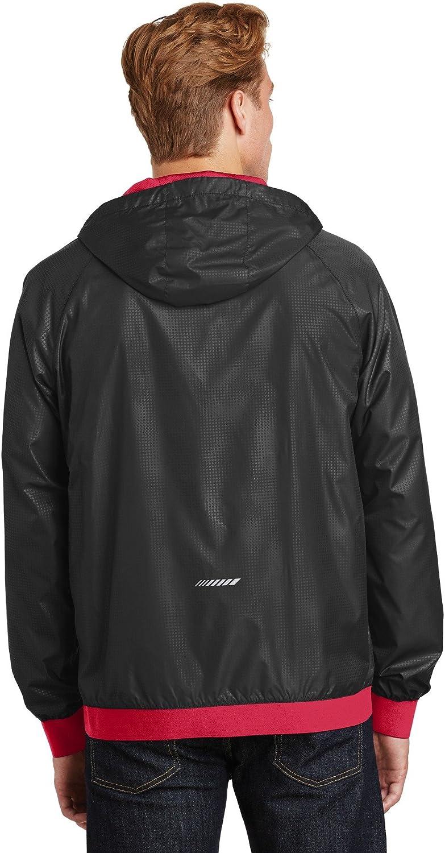 Sport-Tek JST53 Embossed Hooded Wind Jacket