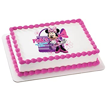 Deco Pac Disney Minnie Mouse Edible Icing Cake Topper Amazoncouk