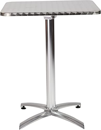 Eur Style Arden SquareTextured Stainless Top Indoor/Outdoor Foldable Bistro Table