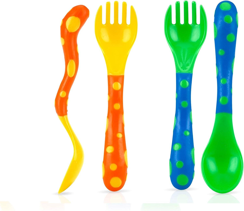 Nuby Fork Spoon Set 4 ea