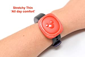 Luke3DP Watch Adapter Compatible with Disney Magic Band/Narrow Band Fitness Trackers (Black)