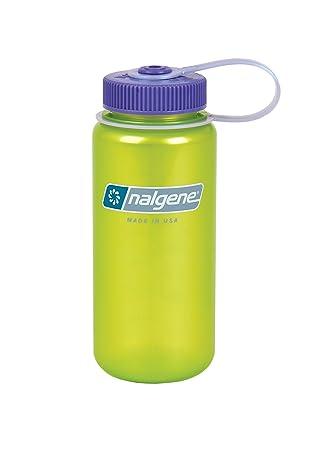ed0f42e71 Nalgene Translucent Wide Mouth Bottle With Purpe Lid (Trans Lime, 32 oz)