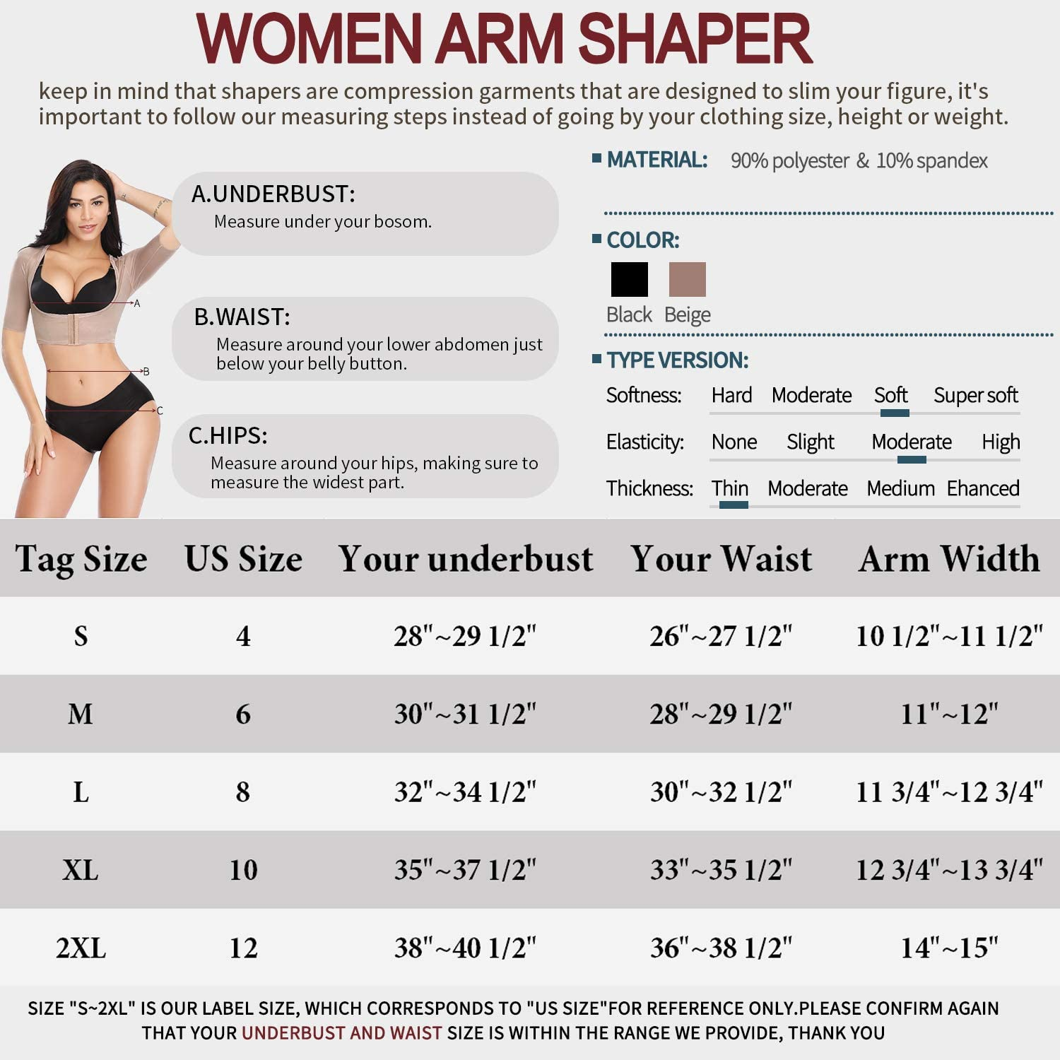 MISS MOLY Women Seamless Slimming Upper Short Sleeve Arm Shaper Top Posture Corrector Shapewear