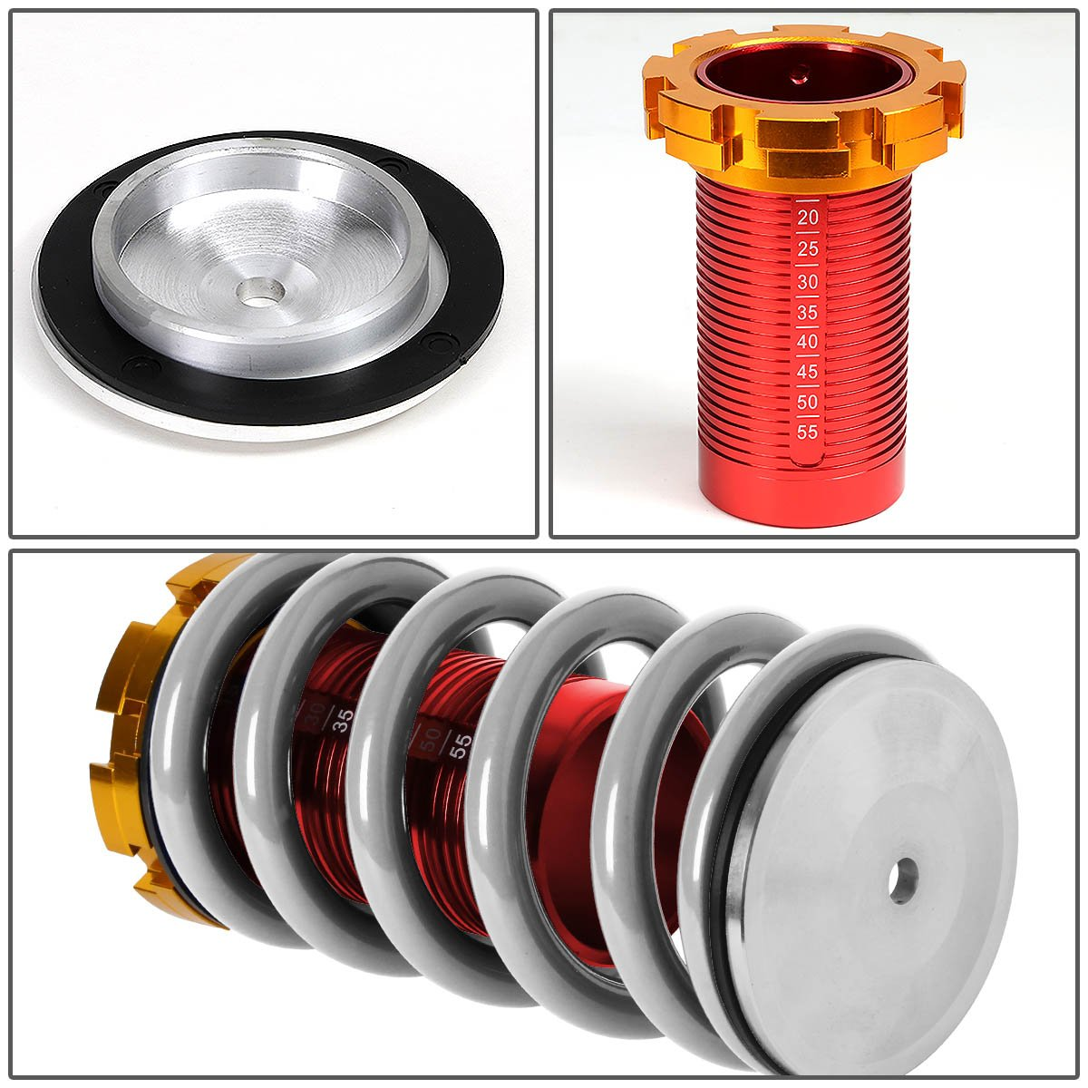 DNA Motoring COILHC88T11SL Coilover Sleeve Kit For 88-01 Honda Civic Del Sol CRX Acura Integra