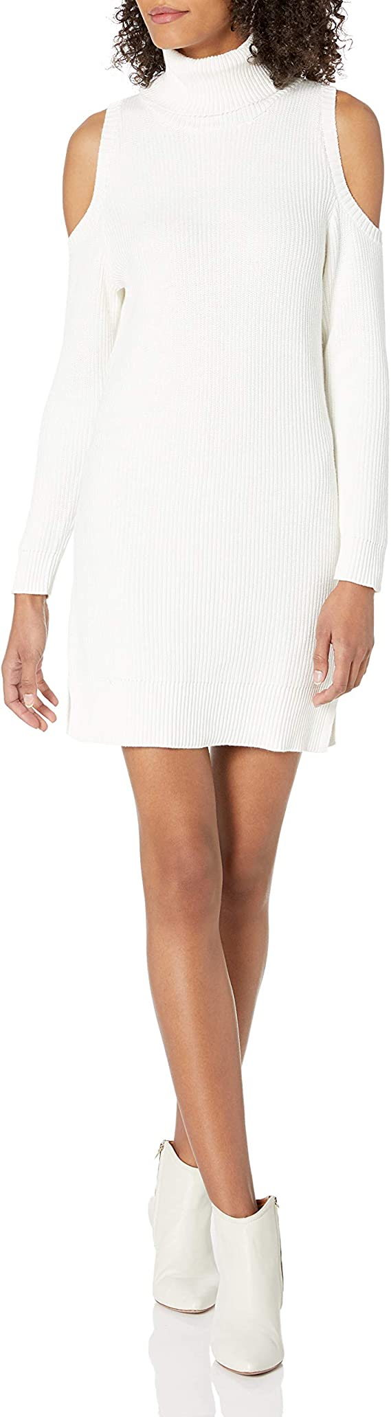 kensie Women's Cotton Blend Cold Shoulder Dress