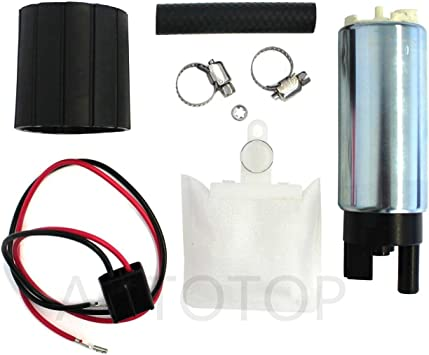 AUTOTOP New High Performance Universal Electric Intank Fuel Pump with Installation Kit For Multiple Models E2068 9608737