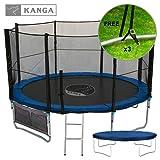 Kanga 12ft Premium Trampoline with Safety Enclosure, Net, Ladder, Anchor Kit, Shoe Bag & Winter Cover (12ft)