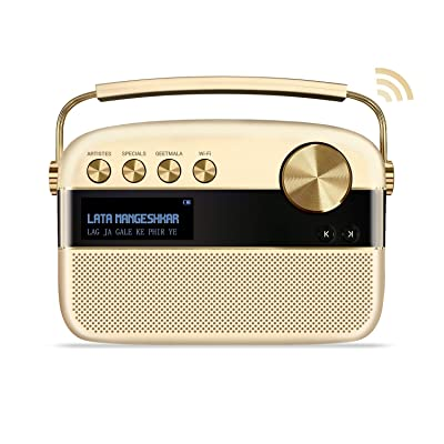 Saregama Carvaan 2.0 Portable Digital Music Player - Sound by Harman/Kardon (with 20,000 Songs) (with WiFi, Champagne Gold Color): Home Audio & Theater [5Bkhe0410659]
