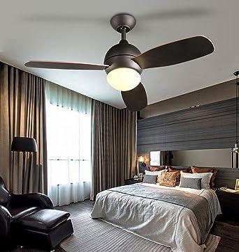 XHOPOS HOME Ventilator Lampe American Style Wohnzimmer Kinderzimmer  Schlafzimmer Holz Blätter Wohnzimmer Kronleuchtern LED Weiß Durchmesser