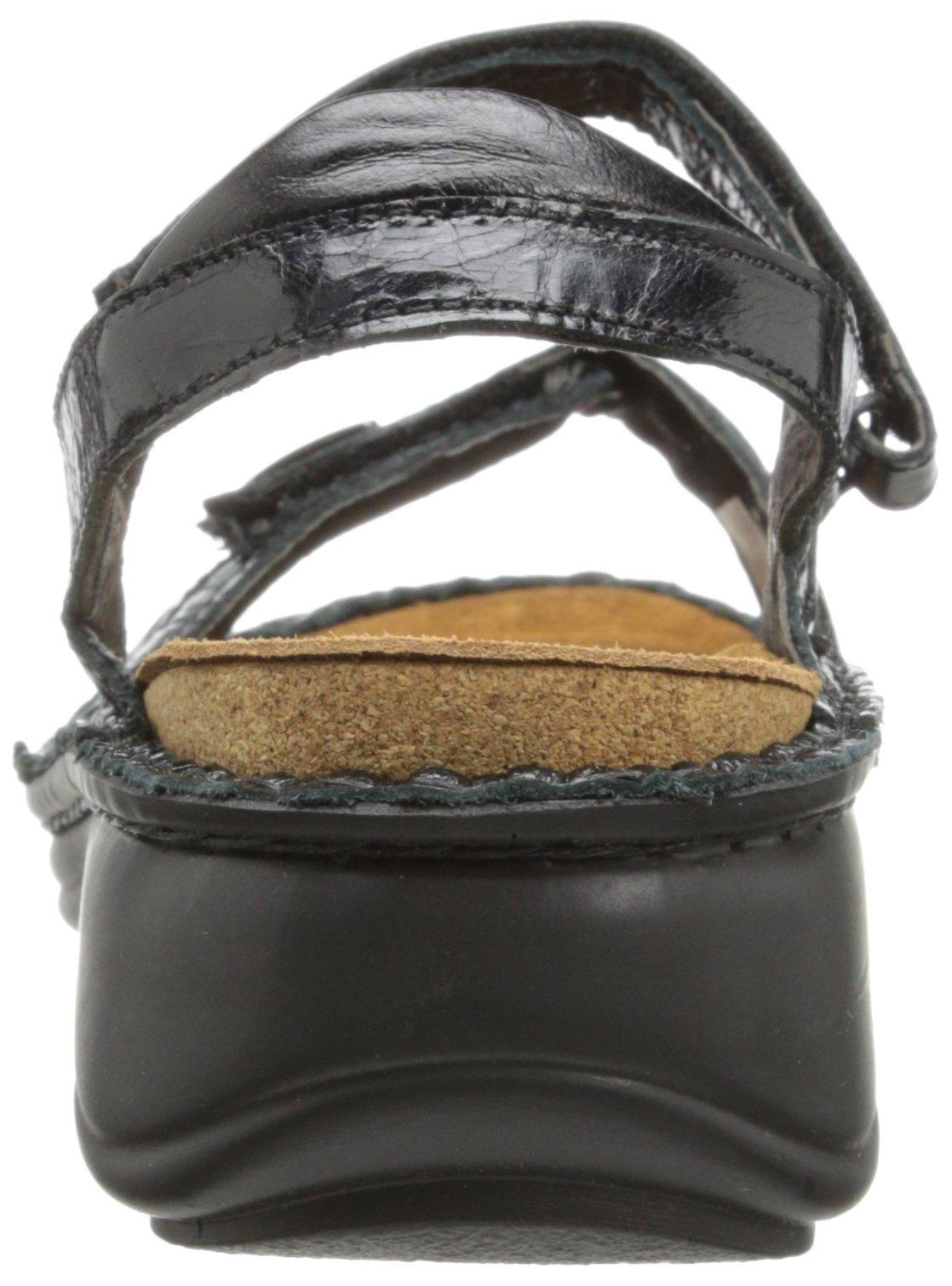 Naot Women's Papaya Flat,Black Madras Leather,40 EU/8.5-9 M US by NAOT (Image #2)