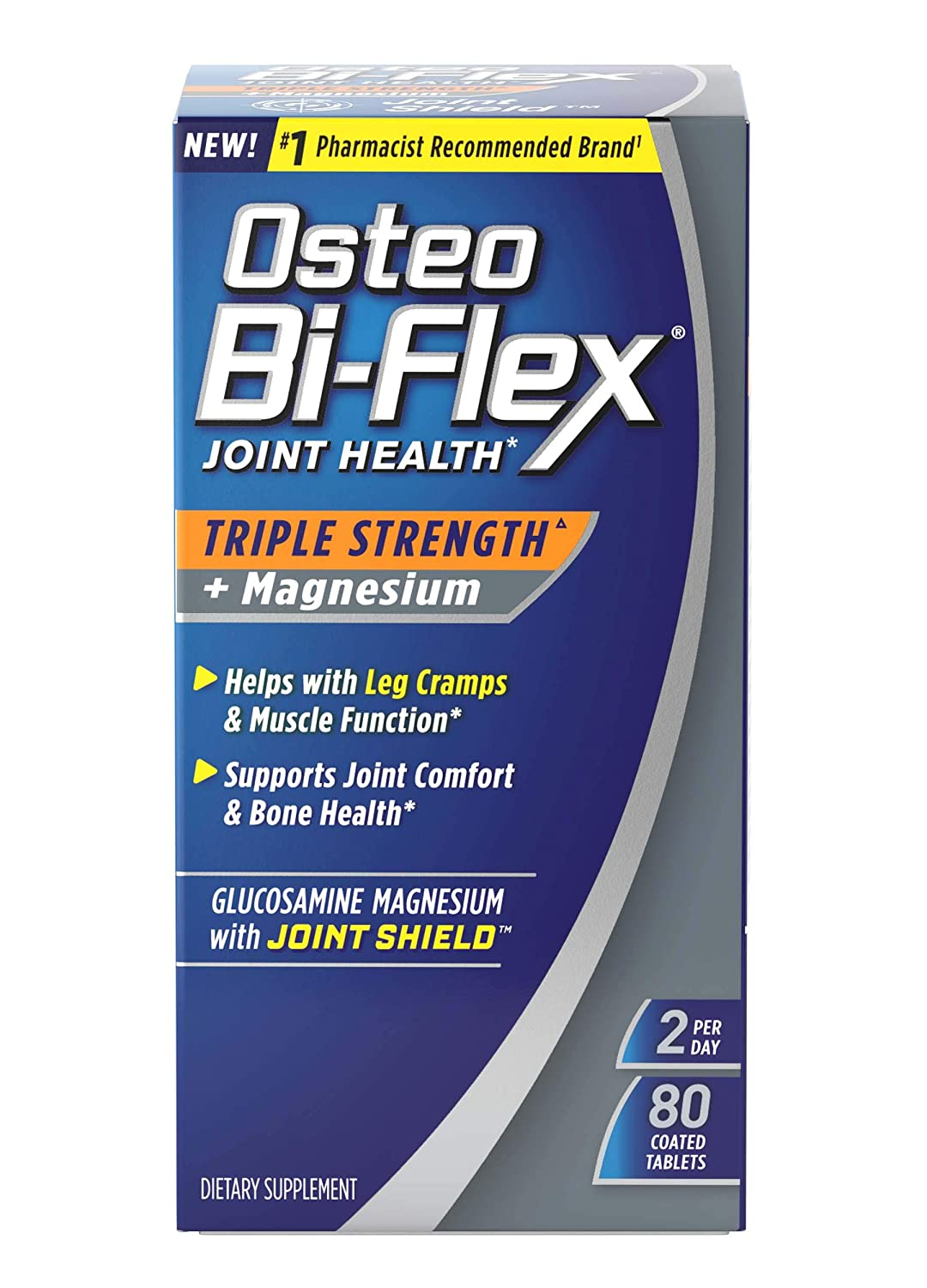 Osteo Bi-Flex Triple Strength Joint Supplement with Glucosamine Magnesium, Gluten Free, 80 Tablets