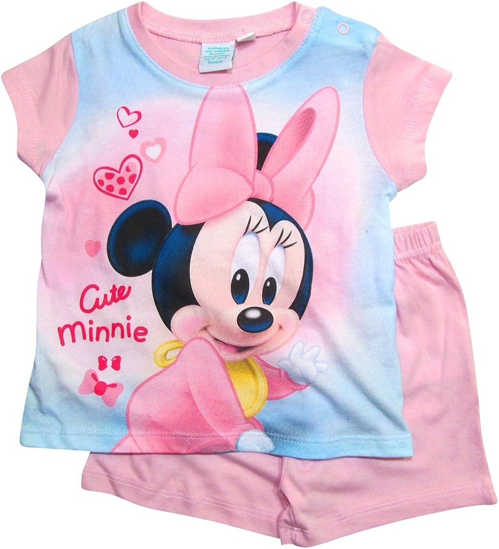Ensemble de Pyjama B/éb/é Fille 0 /à 24 Mois Rouge Rot 80 cm-86 cm; Prime Minnie Mouse