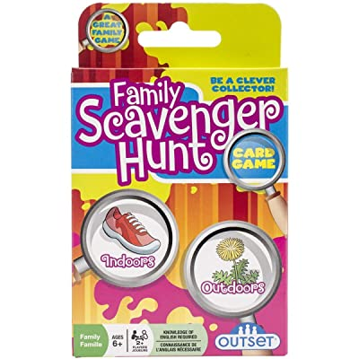 Family Scavenger Hunt Card Game by Outset Media- Travel Friendly Indoor and Outdoor Family Scavenger Hunt - Ages 6+: Arts, Crafts & Sewing