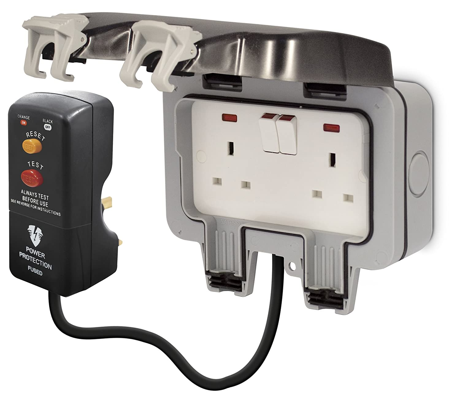 Bg Outdoor Weatherproof Power Kit Twin Switched Mains