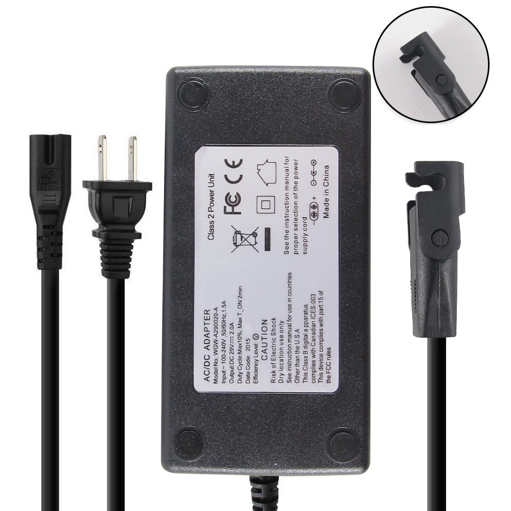 Abakoo New 29V 2A Adapter Charger for Lift Chair or Power Recliner OKIN, Limoss, Tranquil Ease, AC/DC Switching Power Supply Transformer + polarized SPT2 Power Wall Cord