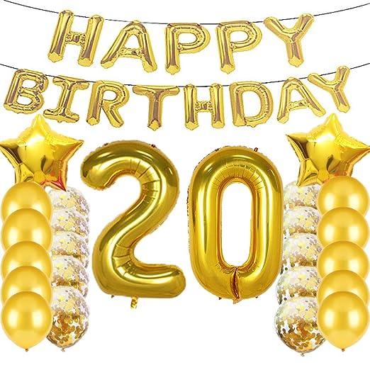 Sweet 20 cumpleaños decoraciones suministros de fiesta ...