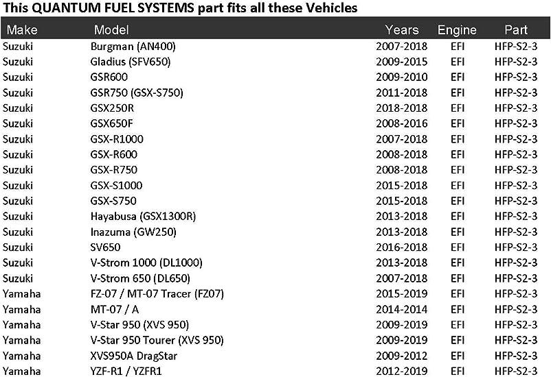 15100-31J01 Replacement for Suzuki GSX-S1000//SV650//V-Strom 1000 DL1000; 15100-04K00 QTY 3 15100-18K00 HFP-S2-3 Fuel Strainer Set