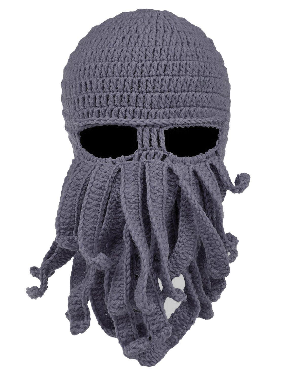 Unisex Barbarian Knit Beanie Octopus (Grey) Nanny Mcphee 2322678
