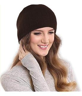 c1dd29f59af DRUNKEN Women s Ribbed Knitt Stylish Woollen Beanie Cap Brown Free Size