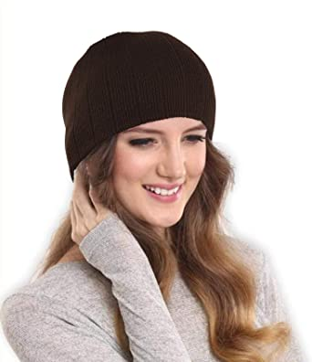 e1d6b03516f2d9 DRUNKEN Women's Ribbed Knitt Stylish Woollen Beanie Cap Brown Free_Size