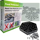 PondXpert Pond Protector Floating Fish Pond Net. Interlocking Rings. Protect Fish from Heron. Super Value Pond Netting.