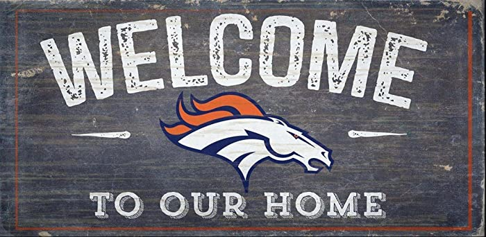 Fan Creations Welcome Denver Broncos Distressed 6 x 12, Multi
