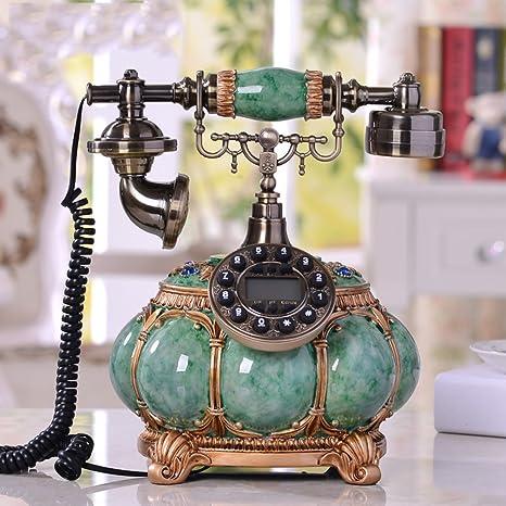 Amazon.com: Europeo antiguo teléfono hogar Retro teléfono ...
