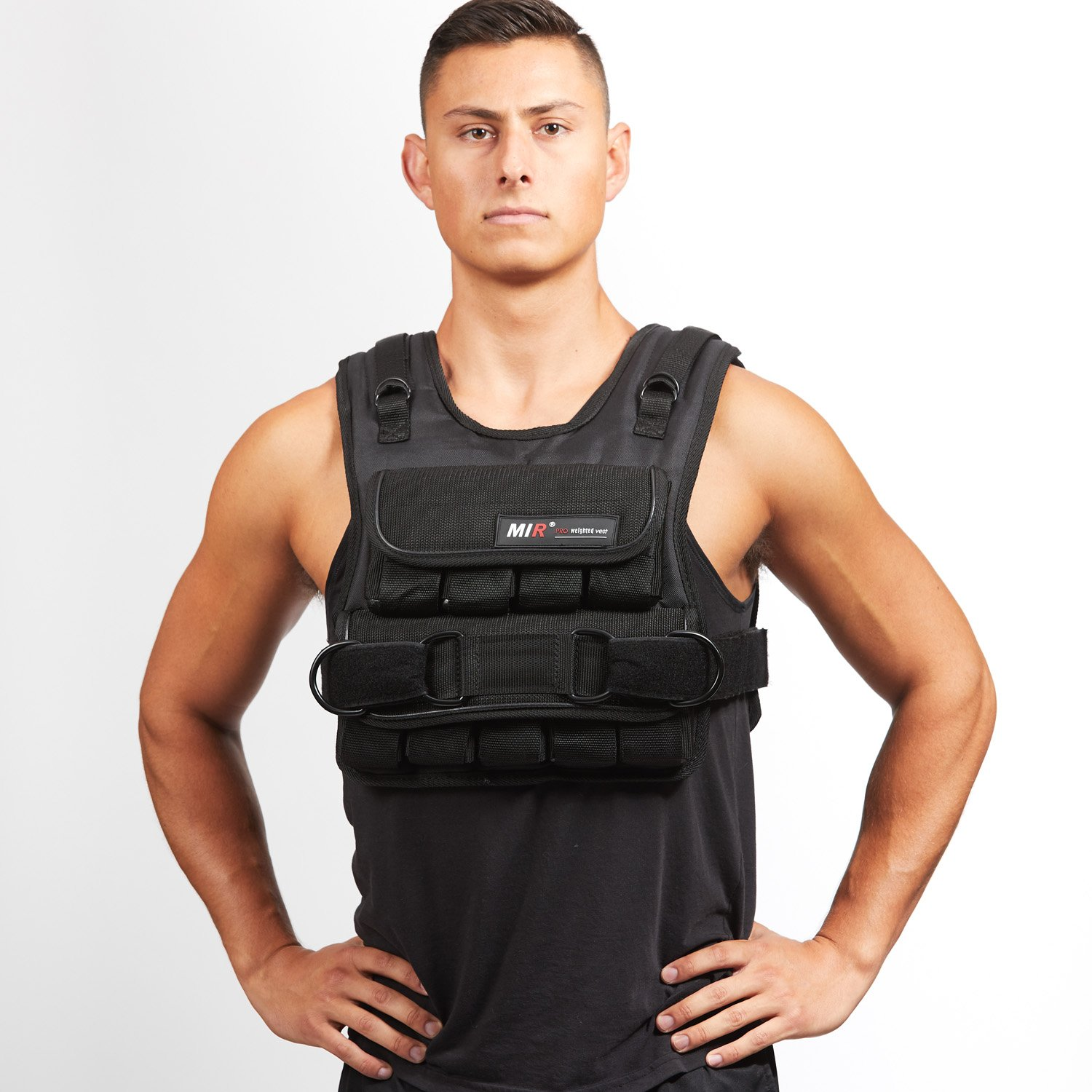 Mir 60LBS (SHORT STYLE) ADJUSTABLE WEIGHTED VEST MiR Weighted Vest Mir60nv