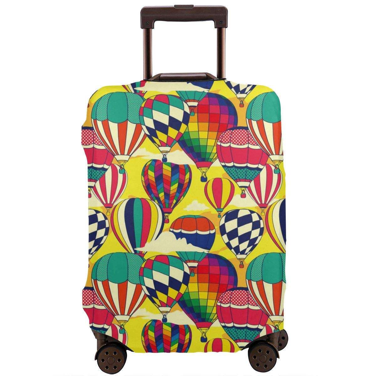 Pop Hot Air Balloons Travel Luggage Cover Suitcase Protector Washable Zipper Baggage Cover