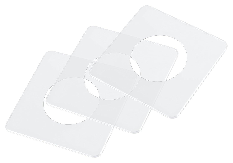 pekarek® Spar-Set : Schutz / Dekor Platte Transparent – 1 fach (5 Stück) + 2 fach (5 Stück) P&P Pekarek GmbH