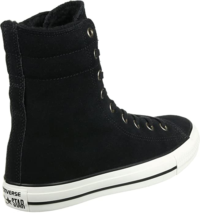 Converse Chuck Taylor All Star Hi Rise BlackEgret Suede Sneakers 553420C Women Boot Shoes
