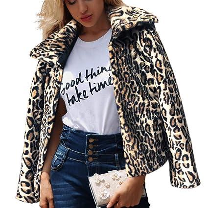 Amazon Com Big Promotion 2019 New Coatwomen S Leopard Print Faux