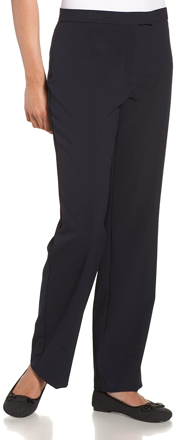 Sag Harbor Women's Petite Slimming Panel Pant