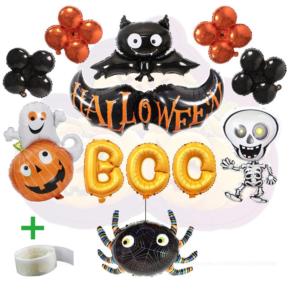 WLZP Halloween foil palloncino, decorazioni per feste di Halloween, Boo Boo